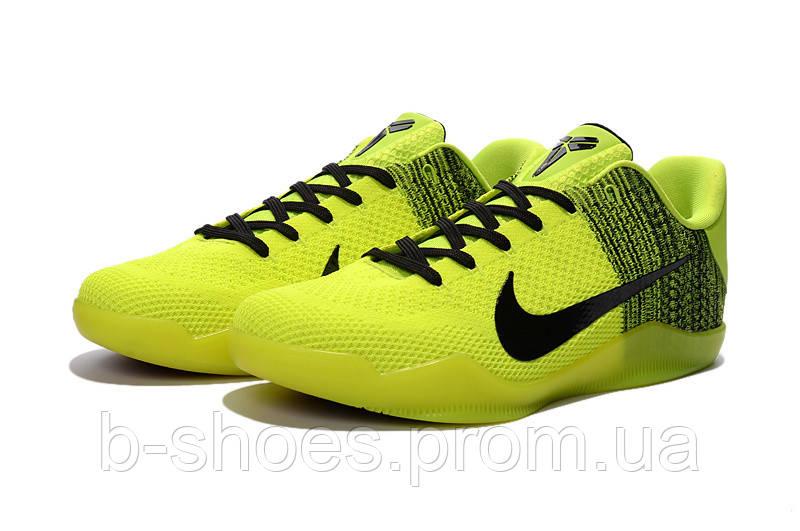 Мужские Баскетбольные кроссовки Nike Kobe 11 (Yellow/Black)