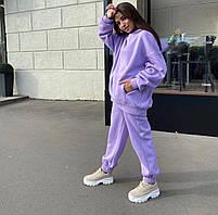 Теплый женский спортивный костюм на флисе с капюшоном в расцветках (Норма), фото 6