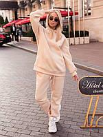 Теплый женский спортивный костюм на флисе с капюшоном в расцветках (Норма), фото 10