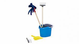"""Дитячий ігровий набір для прибирання """"Чистюля"""" 416OR відро з віджимом (Синій)"""