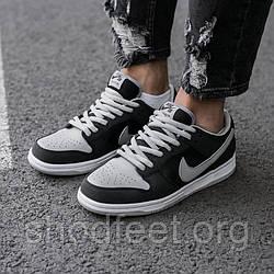 Чоловічі кросівки Nike SB Dunk Grey\Black