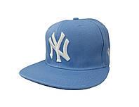 Кепка NY голубая с белым логотипом