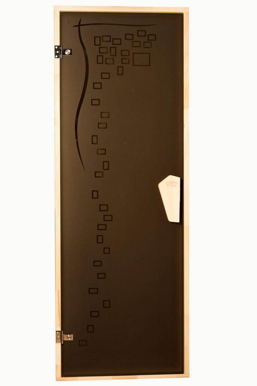 Tesli Дверь для бани  и сауны Graphic 1900 х 700