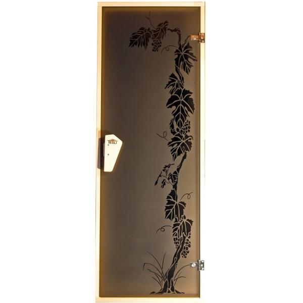 Tesli Дверь для бани  и сауны Виноград 1900 х 700