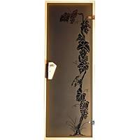 Tesli Дверь для бани  и сауны Виноград 1900 х 700, фото 1