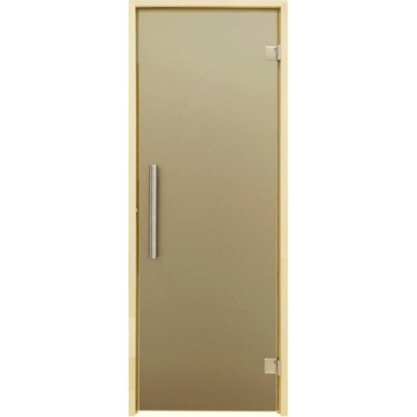Tesli Дверь для бани и сауны Tesli Steel Sateen 2000 х 683