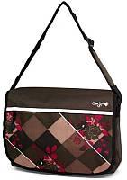Молодежная эффектная сумка Daniel Ray полиэстер 43,566681 коричневая