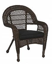 Крісло з штучного ротангу, антрацит