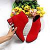 Яркие лаконичные замшевые женские ботинки ботильоны удобный каблук, фото 9