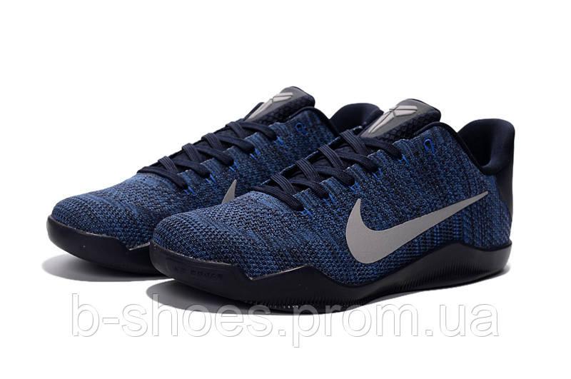 Мужские Баскетбольные кроссовки Nike Kobe 11 (Black/Blue)
