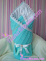 Конверт - плед на выписку для новорожденных