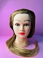 Учебный манекен для парикмахера 30% натуральных волос, русый