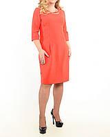 """Женское платье большого размера """"Красное с карманами"""""""