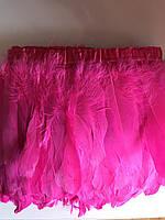 Пір'яна тасьма з гусячого пір'я .Колір рожевий.Ціна за 0,5 м
