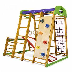 Карапуз Plus 1-2 | Дерев'яний спортивний куточок-трансформер | Дитячий спорткомплекс, фото 2