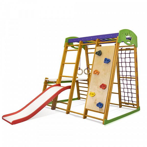 Карапуз Plus 1-2 | Дерев'яний спортивний куточок-трансформер | Дитячий спорткомплекс
