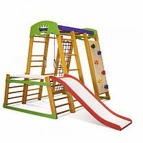 Карапуз Plus 1-2 | Дерев'яний спортивний куточок-трансформер | Дитячий спорткомплекс, фото 3