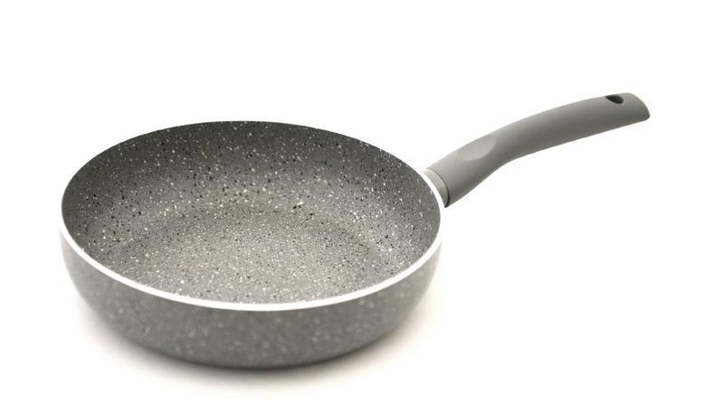 Сковорода глубокая круглая высокая с антипригарным покрытием Fissman VULCANO Ø20см с индукционным дном