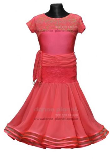 """Платье-бейсик для спортивно - бальных танцев """"со съемной юбкой 'Стандарт'"""""""