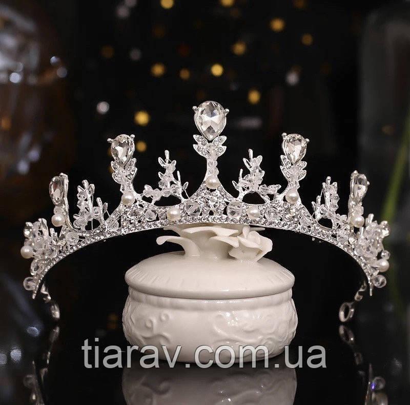 Диадема свадебная, тиара, украшения и аксессуары для волос
