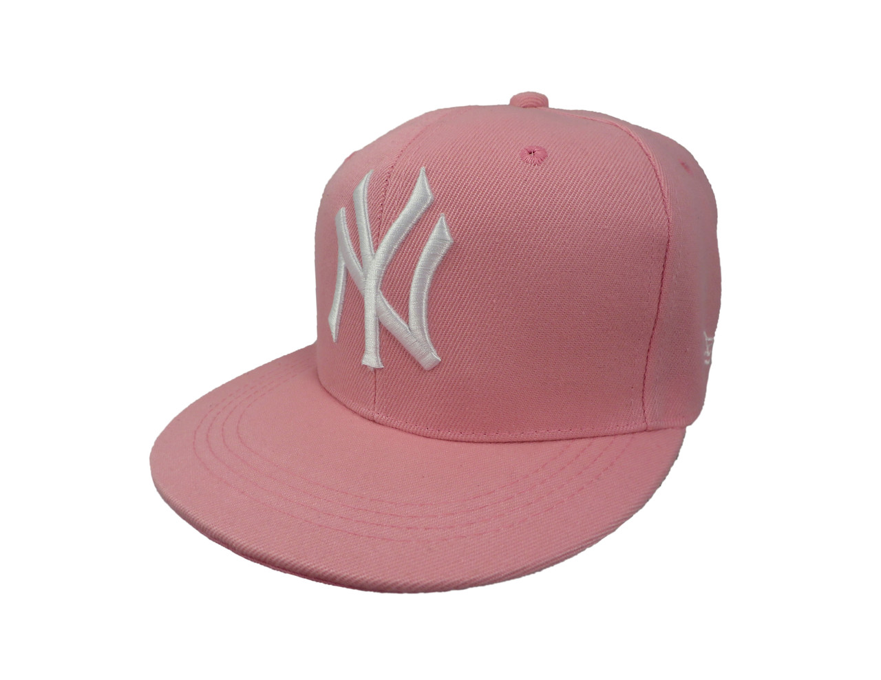 Кепка NY розовая с белым логотипом