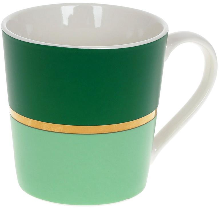 Кружка фарфоровая Джайв 390мл, зеленый BD-248-702