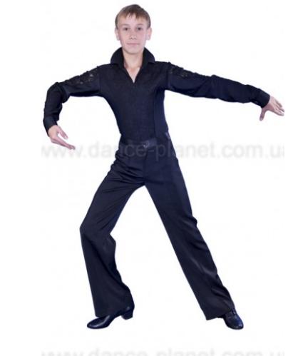 Сорочка латинська з гіпюром для спортивно - бальних танців