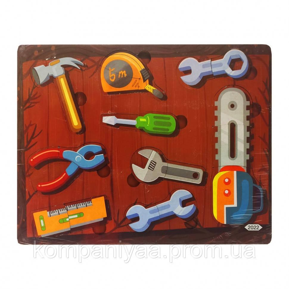 Деревянная игрушка Пазлы MD 2561-2001/24, 30*22 см  (Инструменты)