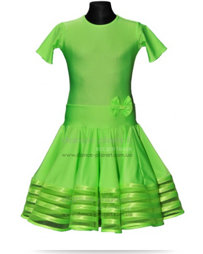 """Сукня-бейсік для спортивно - бальних танців """"07 Салатовий"""""""