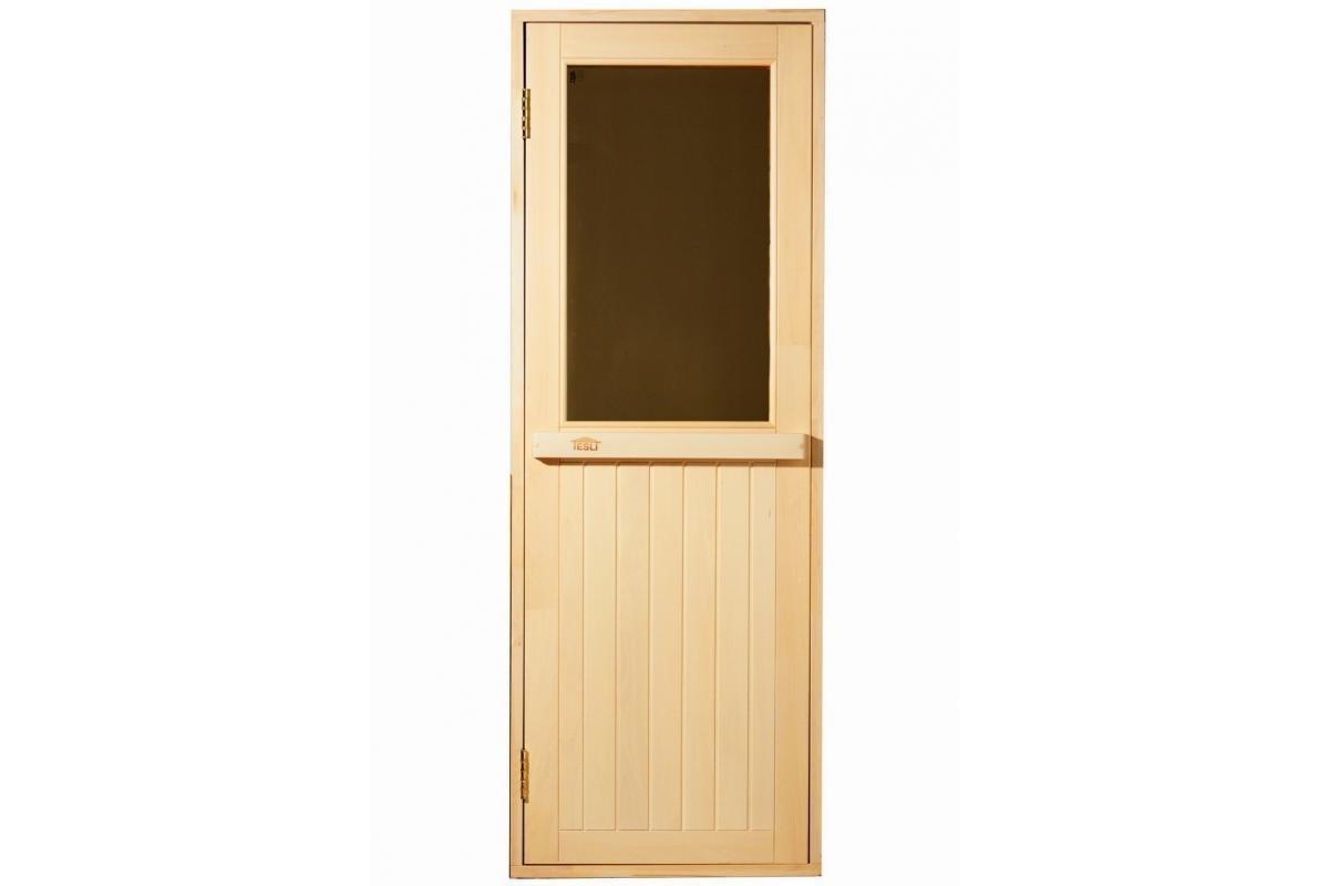 Двері для лазні та сауни Tesli Макс Нова1900 х 700, Двері дерев'яні, Україна, 70/190, дерев'яна, з порогом,