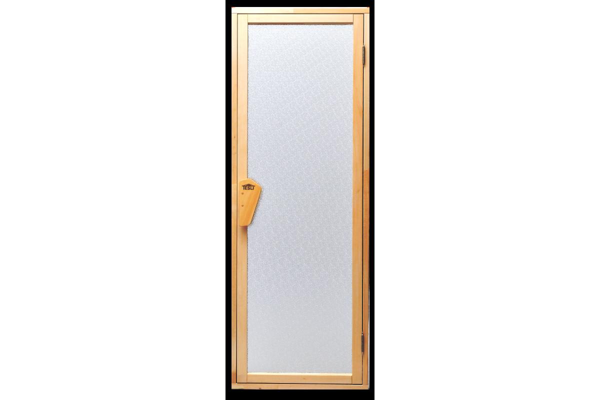 Двери для бани и сауны Tesli UNO Diamant1900 х 700, Дверь стеклянная, Украина, 70/190, стеклянная, матовая, с