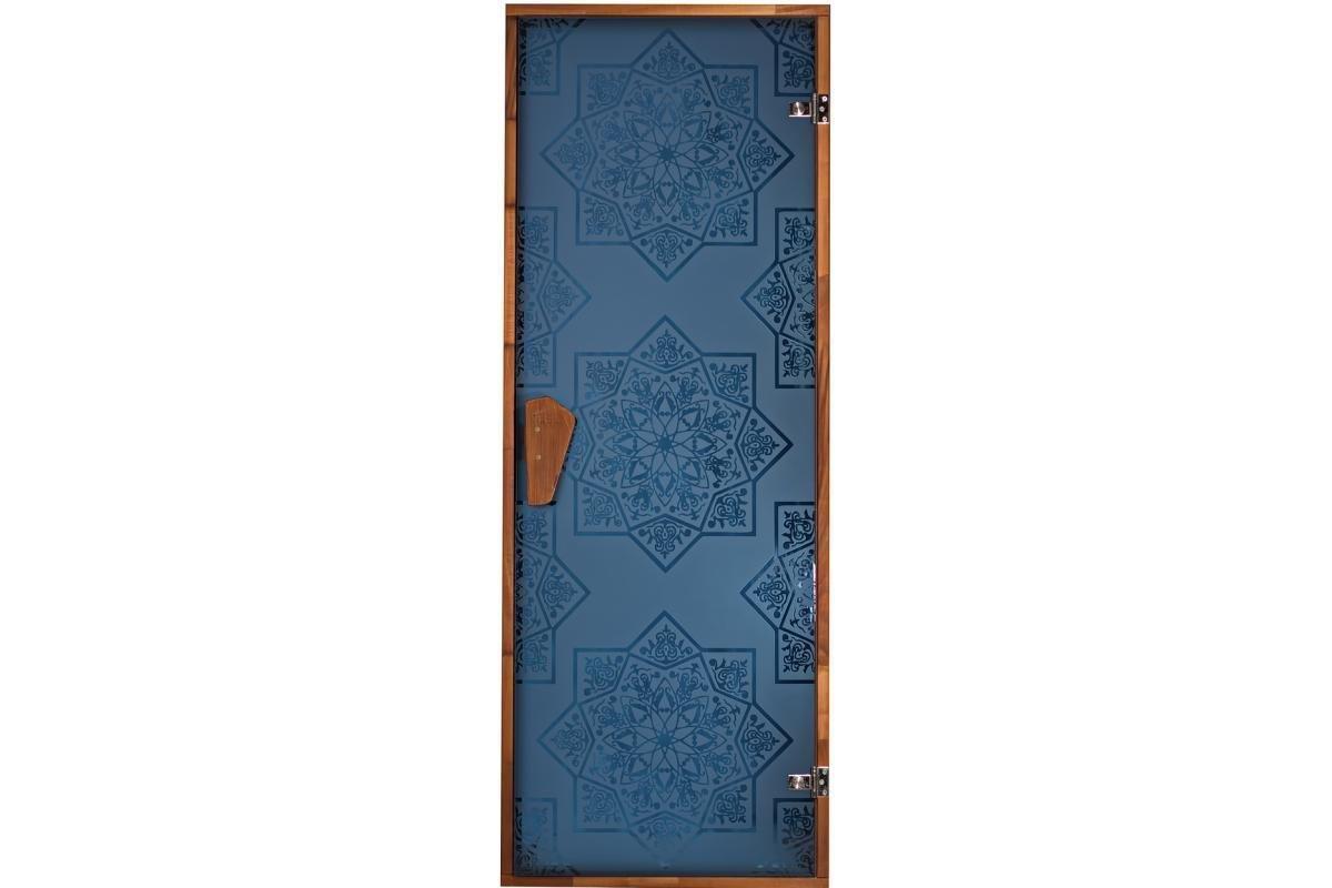 Двері для сауни і хаммама Tesli Сезам Blue 1900 х 700, Двері скляні, Україна, 70/190
