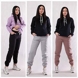 """Жіночі теплі спортивні штани начіс 3-нитка """"Тріо"""" 54 і 58р."""