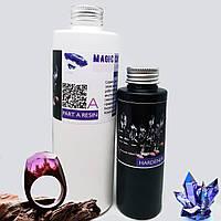 Смола эпоксидная Magic Crystal 3D Clear. Уп. 1,3 кг, прозрачная. Для декора и украшений, фото 1