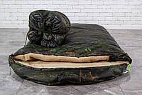 Тактический спальный мешок на меху (до -25) спальник туристический для похода, для холодной погоды!
