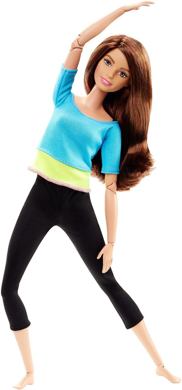 Кукла Барби Безграничные движения Шатенка в голубом топе Barbie Made to Move Blue Top