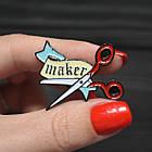 """Значок, брошь-значок, пин из металла на одежду, металлический значок """"Maker"""", фото 2"""