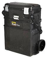 """Ящик 194210 Stanley 549 x 733 x 413 мм, 3 секции, """"FATMAX MOBILE WORK STATION CANTILEVER"""" с колесами"""