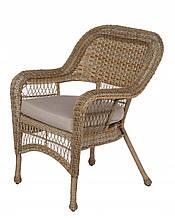 Крісло з штучного ротангу, бежевий