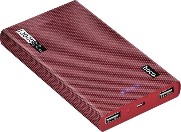 Power Bank Hoco B36 13000 мАч портативная батарея повер банк 13000 мач красный, фото 2