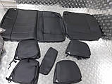 Чохли Skoda Octavia A5 Еко-шкіра 2004-2013р. (з підлокітником ззаду) чорні 85647, фото 9