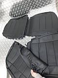 Чохли Skoda Octavia A5 Еко-шкіра 2004-2013р. (з підлокітником ззаду) чорні 85647, фото 10