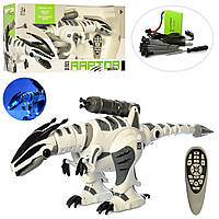 Интерактивный робот-динозавр Dino-Raptor на радиоуправлении, сенсорный, ходит, танцует, 66 см (M 5474)