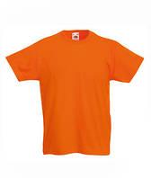 Футболка для мальчиков однотонная оранжевая 033-44