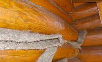 Конопатка у стрічці шир.25 см довжина 25 м для зрубів дерев'яних будинків, лазень, саун, фото 1