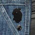 "Значок, брошь-значок, пин из металла на одежду, металлический значок ""Сердце. Rose and love"", фото 2"