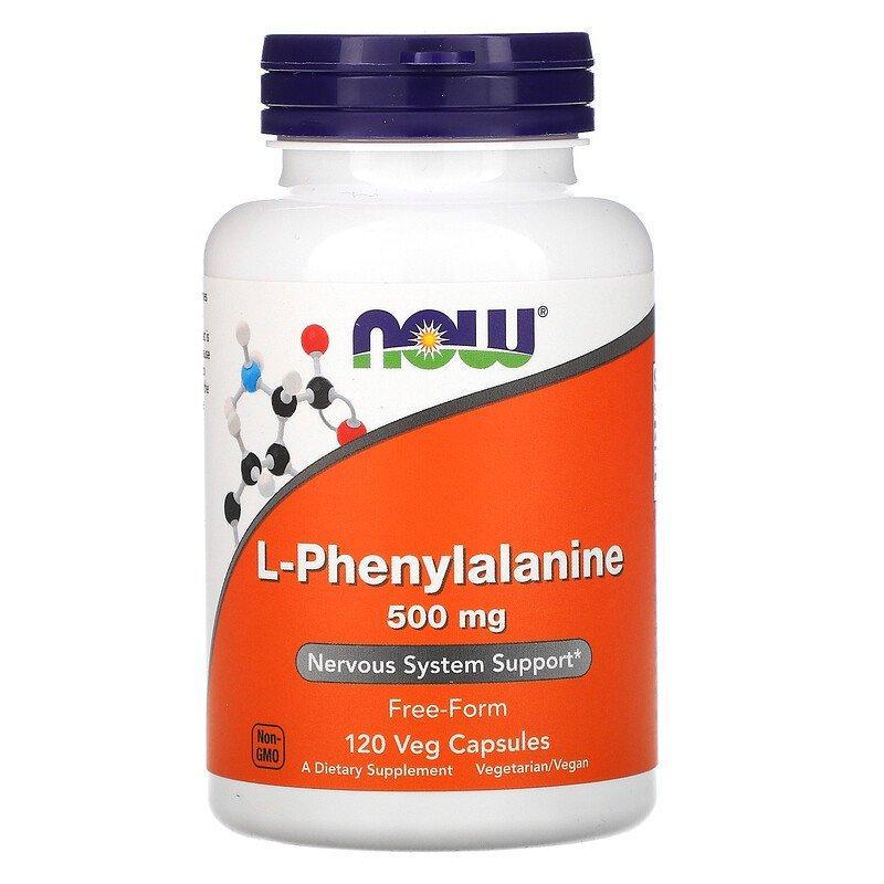 Фенілаланін L-Phenylalanine 500 мг Now Foods 120 капсул