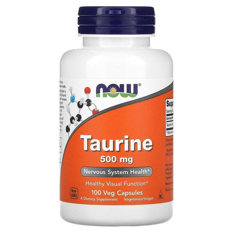 Таурин Taurine 500 мг Now Foods 100 капсул