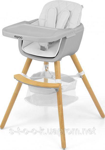 Сучасний і стильний стільчик для годування Espoo 2in1 від Milly Mally. Колір: White