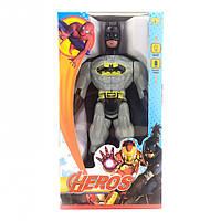 Фигурки супергероев 945ABHSZ-6, со звуковыми эффектами, 19 см (Бетмен-белый)
